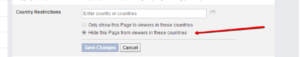 how to remove Facebook country restrictions