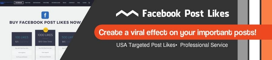 Facebook post likes service